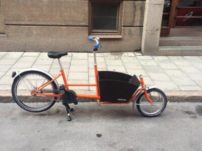 Bakfiets Mini Orange-22